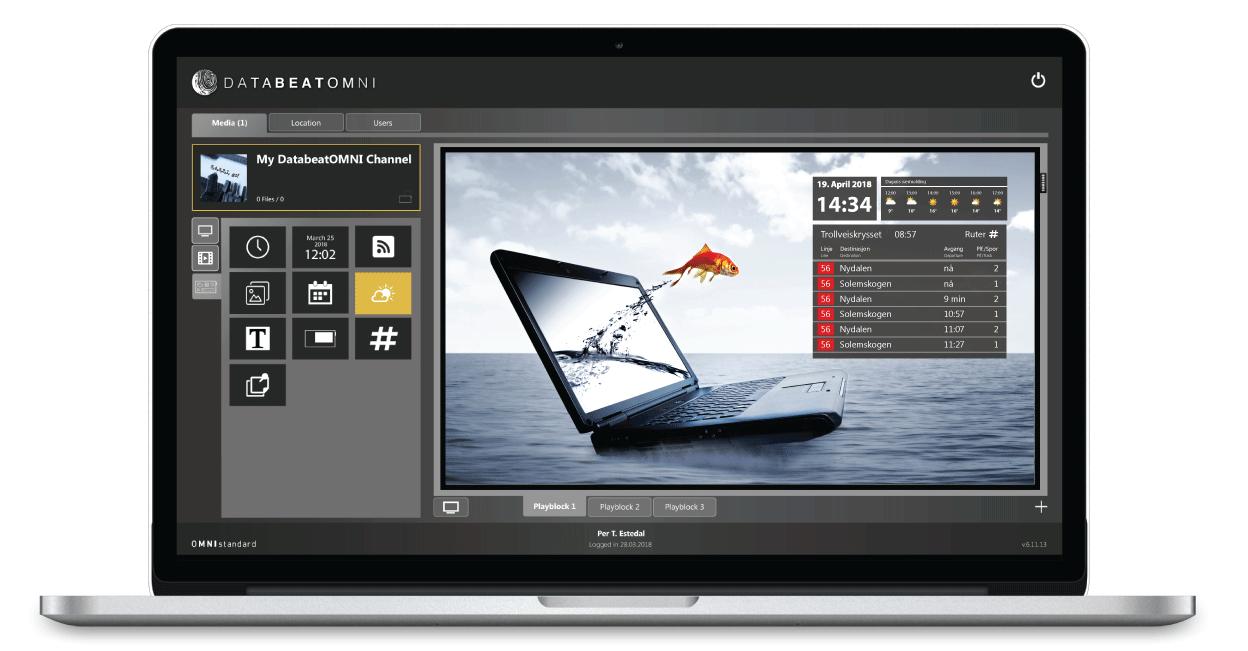 Digital Signage Software widgets