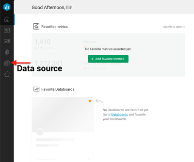 Set up Datasource