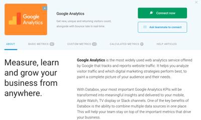 Connect Google Analytics Source