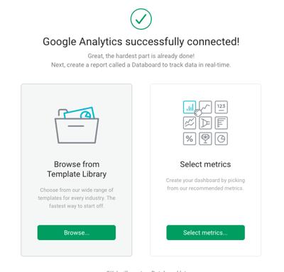 Select your databox metrics