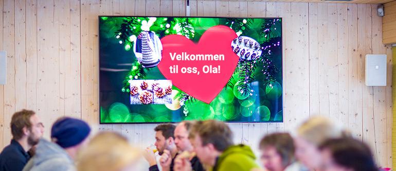 Velkommen-hilsen-digital-signage