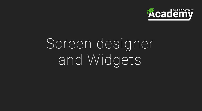 Drag and drop widgets with digital signage