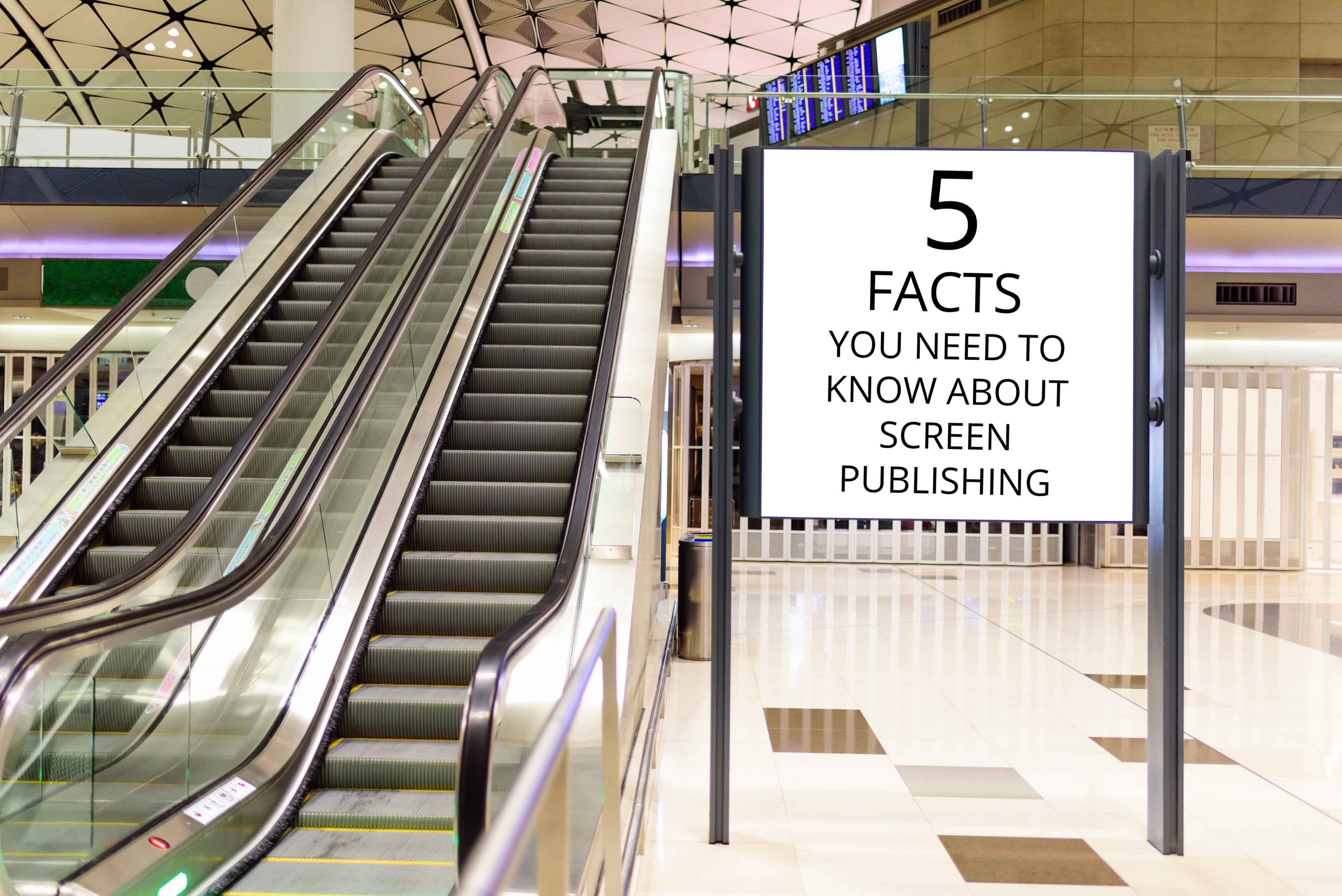 Commercial screens with digital signage